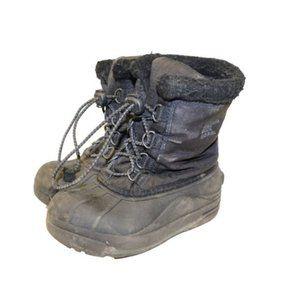 Sorel Youth Cumberland Black Winter Snow Boots